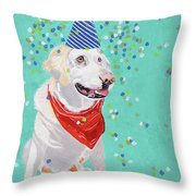 Jake The Party Animal Throw Pillow