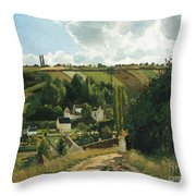 Jalais Hill At Pontoise Throw Pillow