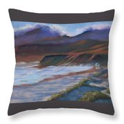 Jalama Beach At Sunset Throw Pillow