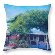 Jalama Beach Store Throw Pillow