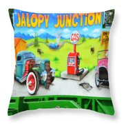 Jalopy Junction 3 Throw Pillow