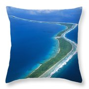 Jaluit Atoll And Lagoon Throw Pillow