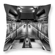 Jamaica Center Subway Station, Queens New York Throw Pillow