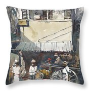 Old Jamaica Country Throw Pillow