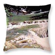Jamaica Rushing Water Throw Pillow