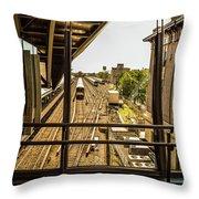 Jamaica Station Throw Pillow