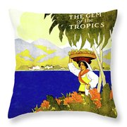 Jamaica, The Gem Of Tropics Throw Pillow