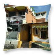 Jamaican Apartments Throw Pillow