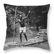 Jamaican Life Throw Pillow