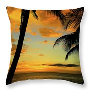 Jamaican Night Throw Pillow by Kamil Swiatek