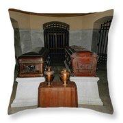 James A. Garfield Coffin Throw Pillow