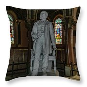 James A. Garfield Statue Throw Pillow