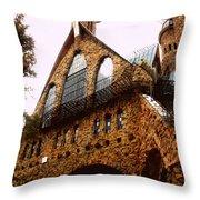 James Bishop's Castle Throw Pillow