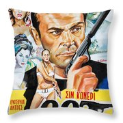 James Bond Dr.no 1962 Throw Pillow