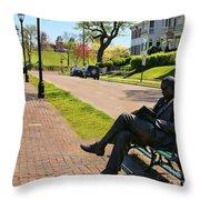 James Bradley Statue 4211 Throw Pillow