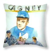 James Cagney Throw Pillow