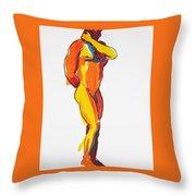 James Classic Pose Throw Pillow