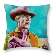 James Coburn Throw Pillow