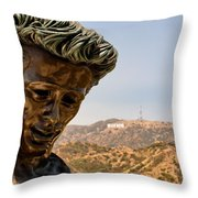 James Dean - Griffith Observatory Throw Pillow