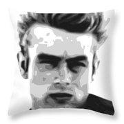 James Dean - Bw Throw Pillow