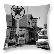 James Dean On Route 66 Throw Pillow
