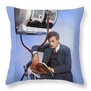 James Dean On Set Throw Pillow
