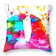 James Dean Watercolor Throw Pillow