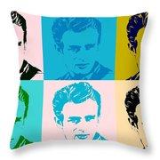 James Dean Pop Art Throw Pillow