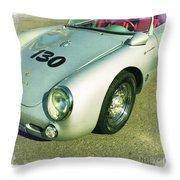 James Dean Porsche Spyder 550 Throw Pillow