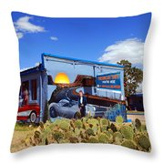 James Dean Was Here Too Throw Pillow