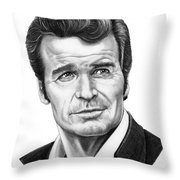 James Garner Throw Pillow