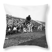 James Jesse Owens Throw Pillow by Granger
