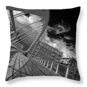 James Joyce Bridge 2 Bw Throw Pillow
