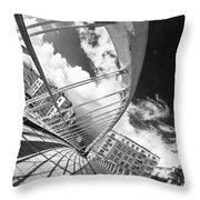 James Joyce Bridge Bw Throw Pillow