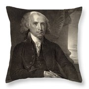 James Madison - Fourth President Of The United States Of America Throw Pillow