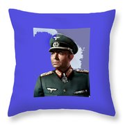 James Mason As Erwin Rommel Publicity Photo The Desert Fox 1951 Color Added 2016 Throw Pillow