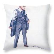 James Montgomery Flagg, 1918 Throw Pillow