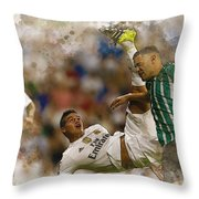 James Rodriguez Performs An Overhead Kick  Throw Pillow