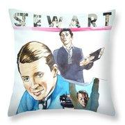 James Stewart Throw Pillow