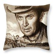 James Stewart The Far Country Throw Pillow