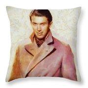 James Stewart, Vintage Hollywood Legend Throw Pillow