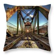 James Street Swing Bridge Throw Pillow