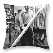 James Van Allen (1914-2006) Throw Pillow