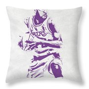 James Worthy Los Angeles Lakers Pixel Art Throw Pillow