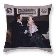 James Wyatt Jr And Her Daughter Sarah Throw Pillow