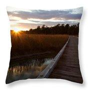 Jamestown Forest Loop Sunset Throw Pillow