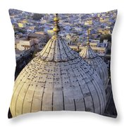 Jami Masjid Aerial Throw Pillow