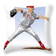 Jamie Moyer Throw Pillow