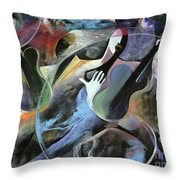 Jammin Throw Pillow by Ikahl Beckford