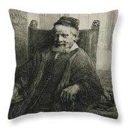 Jan Lutma, The Elder, Goldsmith And Sculptor Throw Pillow